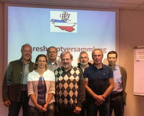 v.l.n.r.: Dr. Walter Reulecke, Britta Reulecke, Manfred Ruser, Winfried Kruse, Kurt Clausen, Andreas Rohrmoser, Jürgen Greiner